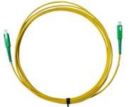 MSS Fibre SCA - SCA Singlemode 2 Metre Yellow LSZH Simplex Patch Lead